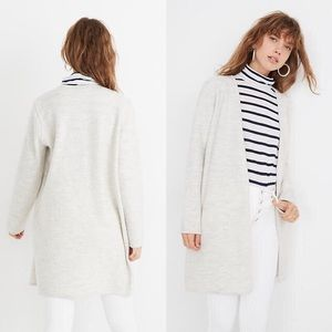Madewell Lombard Sweater Coat Heather Frost Medium